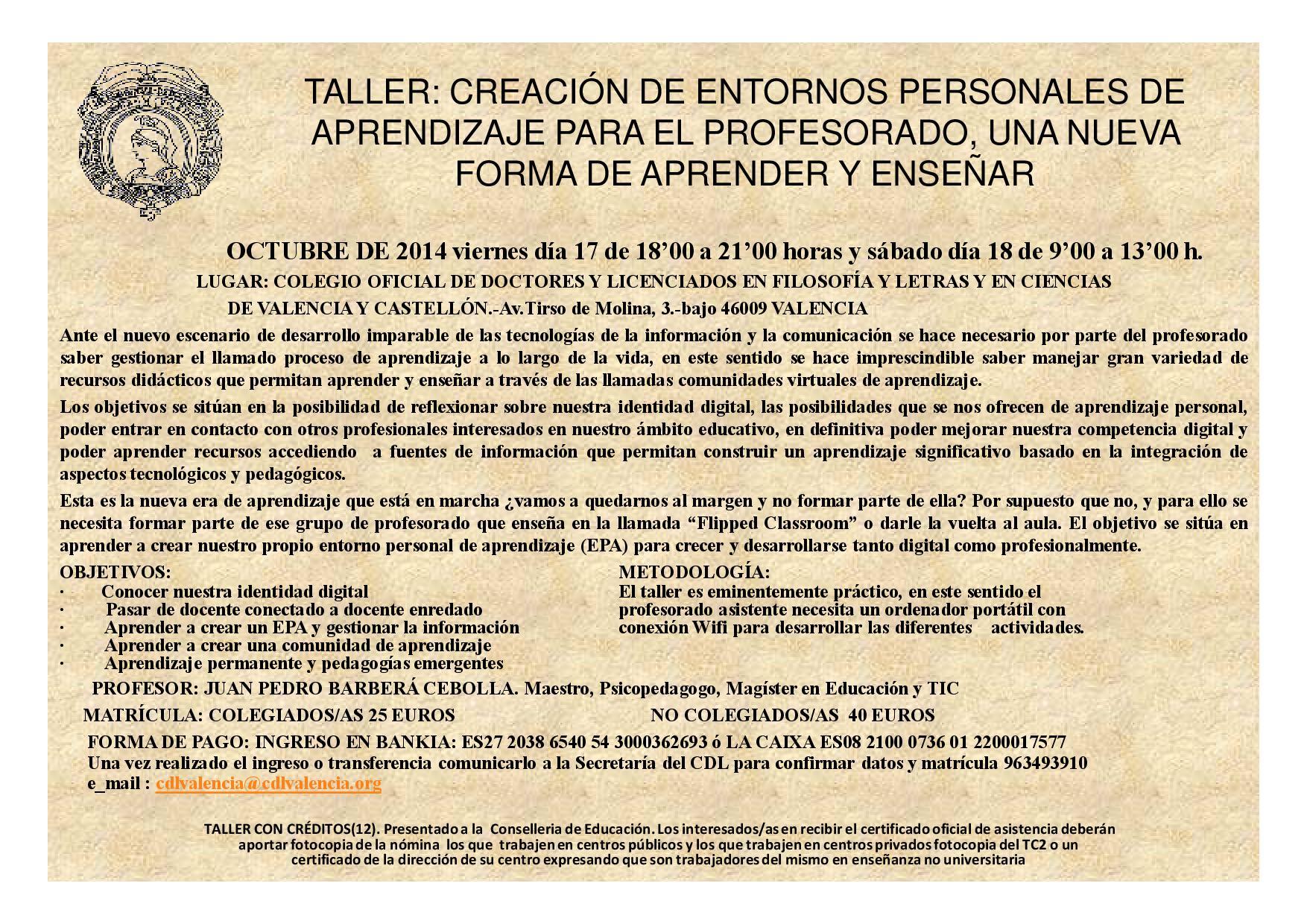 TALLER CREACION ENTORNOS-OCTUBRE
